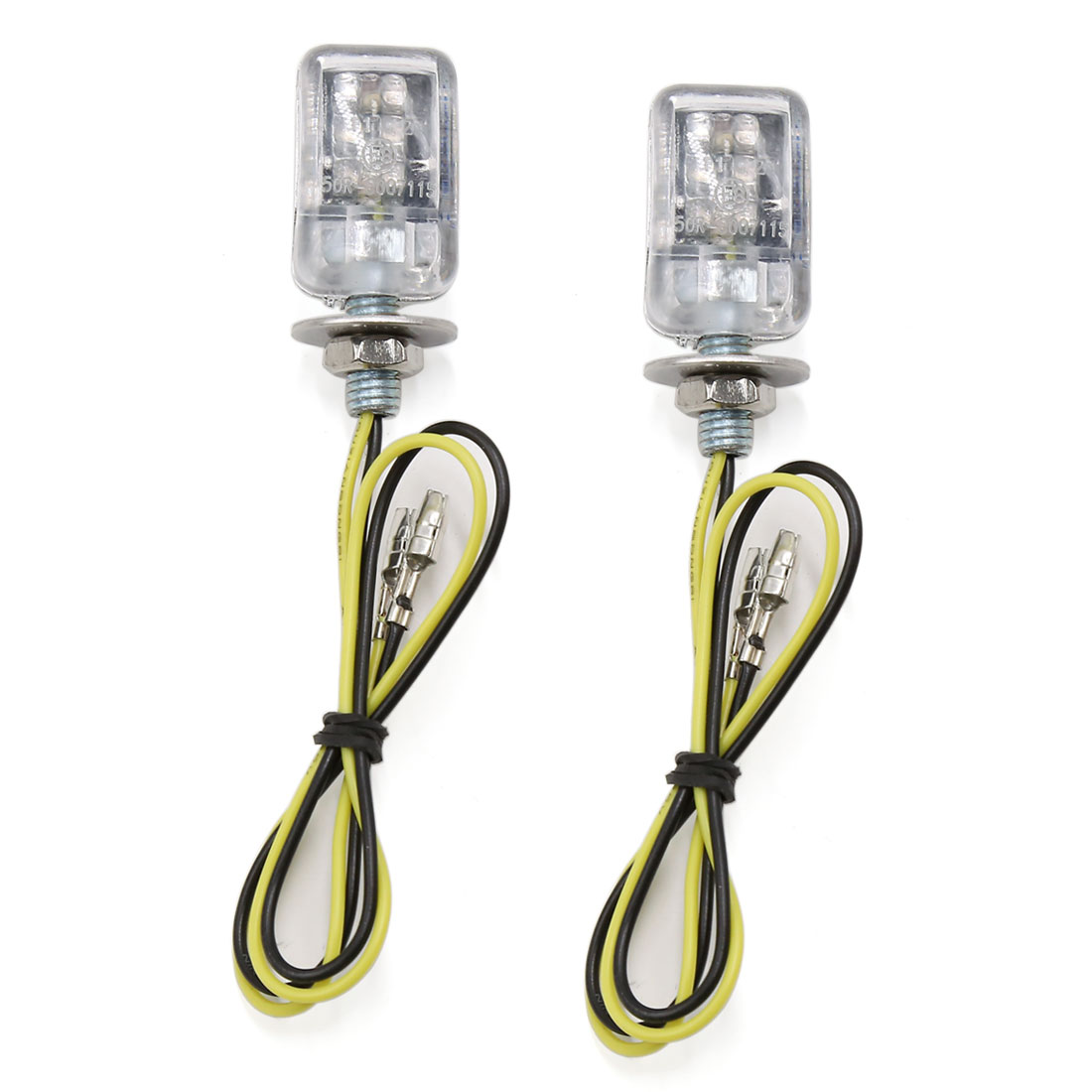 Unique Bargains2 Pcs 6mm Thread Dia   Turn Signal Indicator Light Yellow for Motorcycle