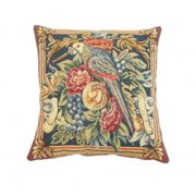 Corona Dcor Corona Decor French Woven Parrot with Flowers and Fruit Design Decorative Throw Pillow