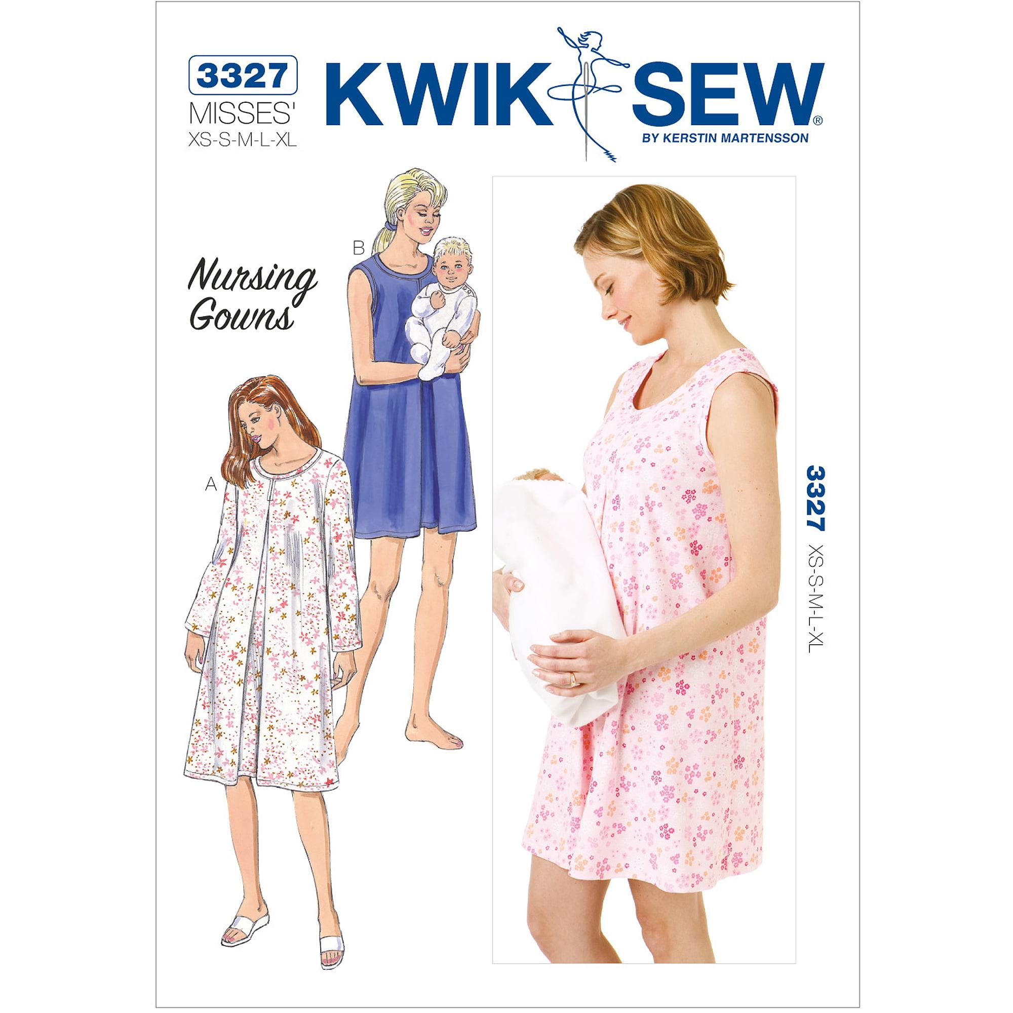 Kwik Sew Maternity Nursing Gowns-xs-s-m- - Walmart.com