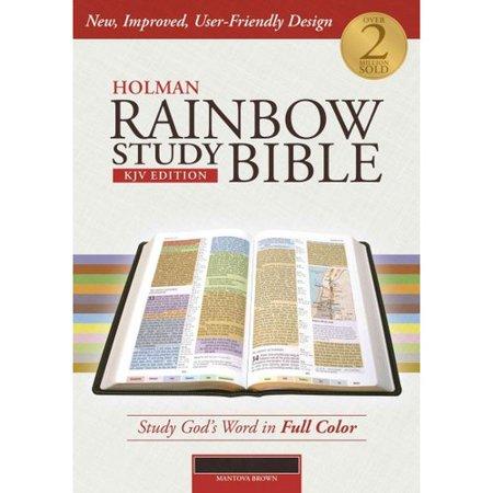 Holman Rainbow Study Bible: King James Version, Mantova Brown, Leathertouch by