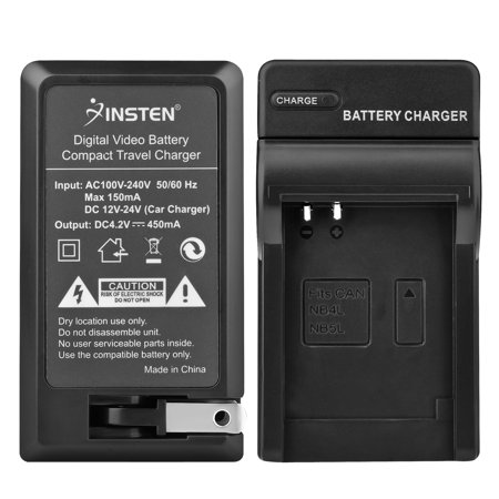 Insten Black Compact Battery Charger Set For Canon NB-4L - image 4 de 4