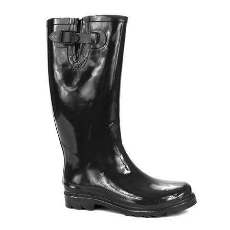 Twisted Women's DRIZZY Knee High Rubber Rain Boots - Walmart.com