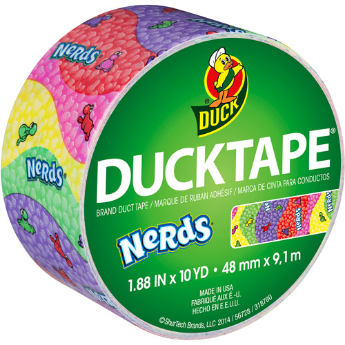 "Duck Brand Duct Tape, 1.88"" x 10 yds, Nerds"