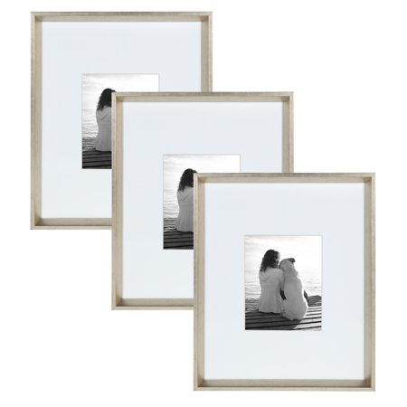 Kate And Laurel Calter 3 Piece Matted Wall Picture Frame Set Silver