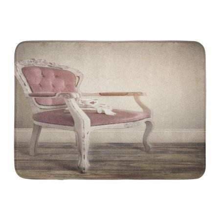 GODPOK Regal Pink Interior Vntage Retro French Louis Xv Chair with Teacup King Antique Rug Doormat Bath Mat 23.6x15.7 (French Louis Xv Arm Chair)