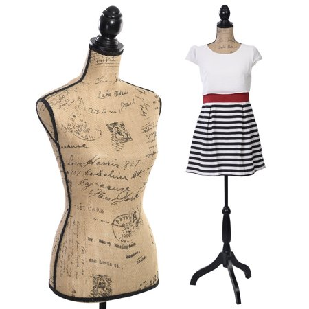 Costway Female Mannequin Torso Dress Form Display W/ Black Tripod Stand - Cosplay Female Characters