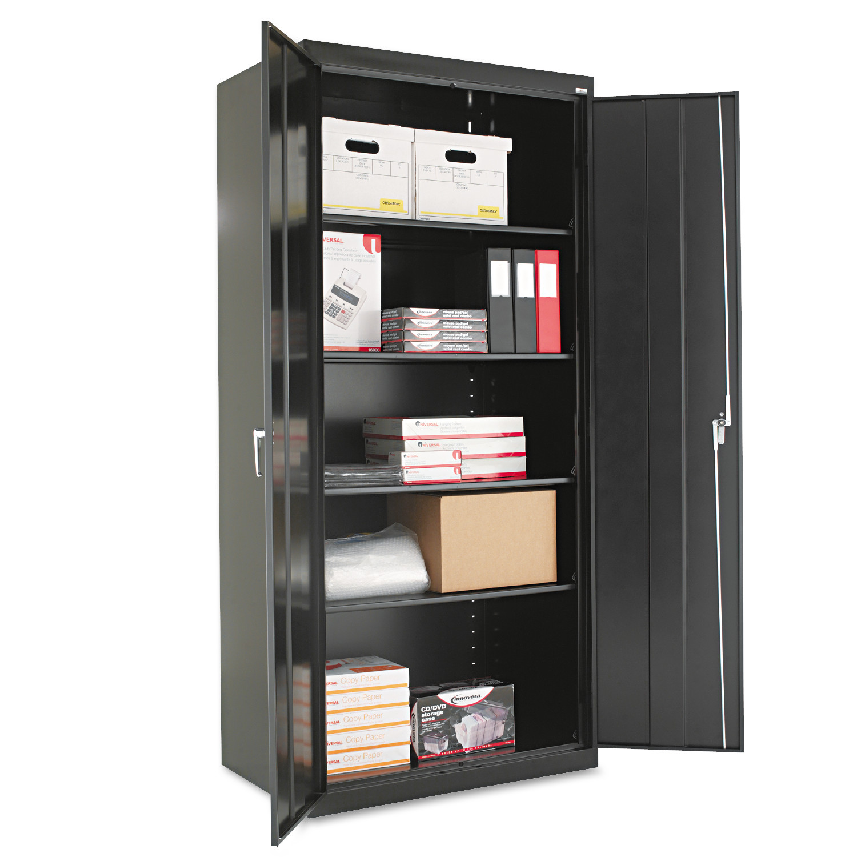 "Alera Assembled 78"" High Storage Cabinet, w/Adjustable Shelves, 36w x 24d, Black"