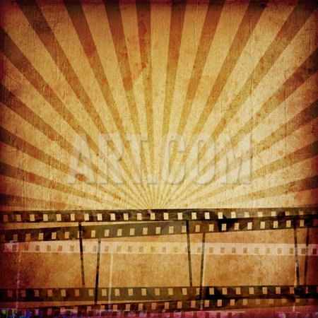 Abstract Composition of Movie Frames or Film Strip Print Wall Art By molodec