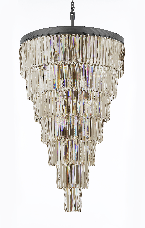 antique two brass chandelier tiered wahlburg arteriors