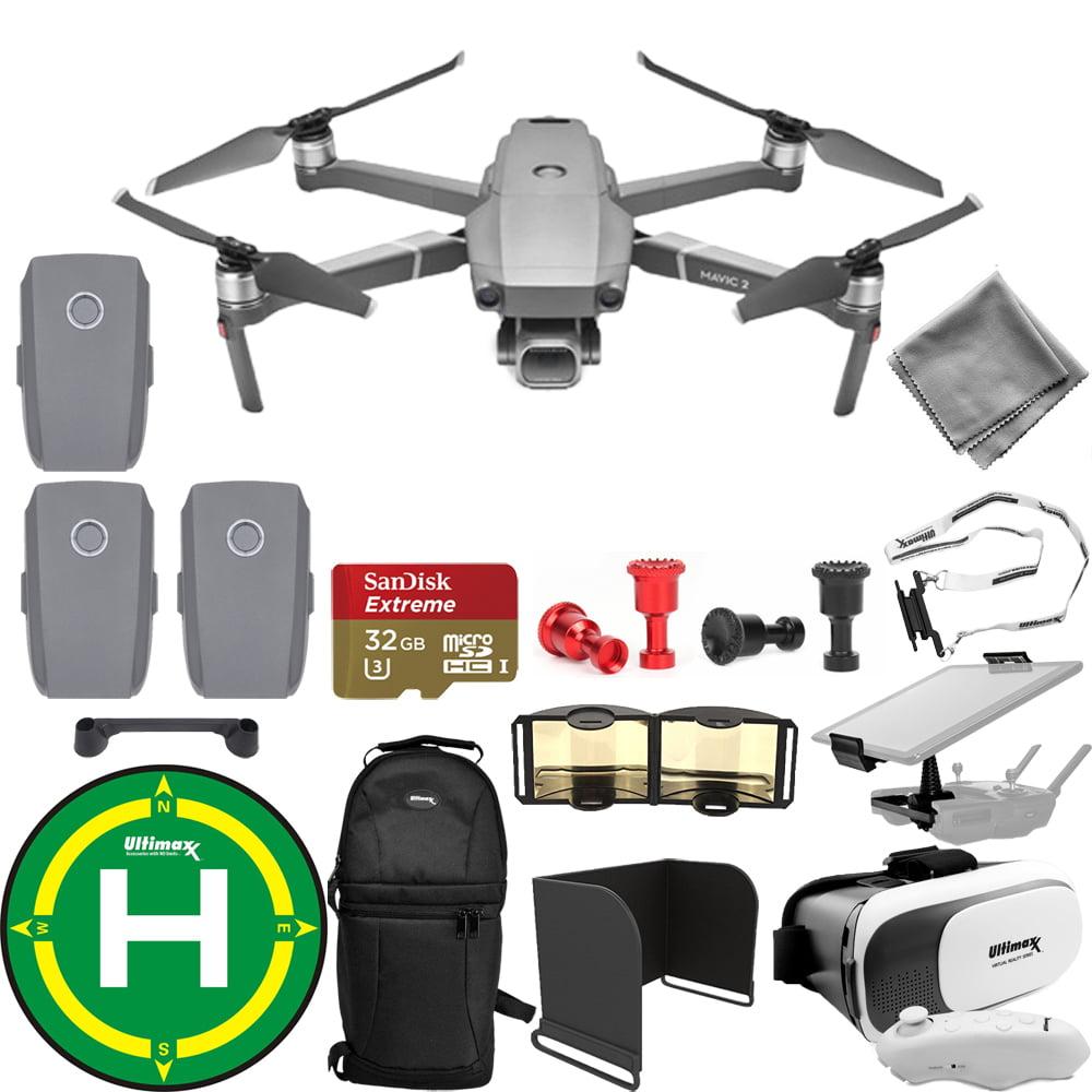 DJI Mavic 2 Pro W  20MP Hasselblad UHD 4K Gimbal Camera 3 Battery Accessory Kit by