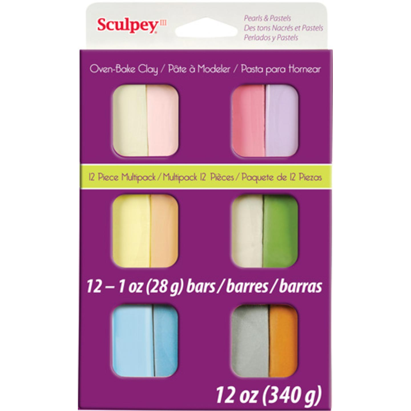 Sculpey Polymer Clay 12-Color Pearl & Pastel Set