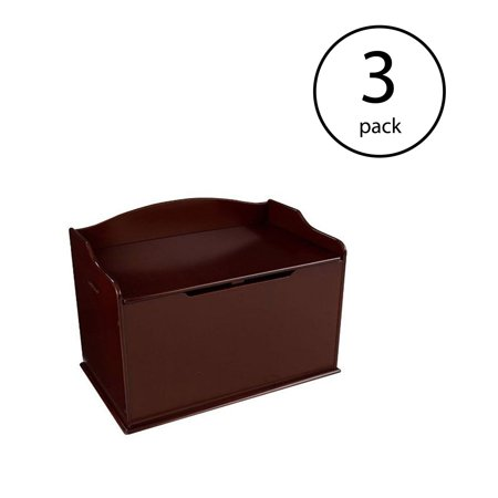 KidKraft Austin Wooden Organizer Storage Box and Sitting Bench, Cherry (3 Pack) - Craft Stores Austin