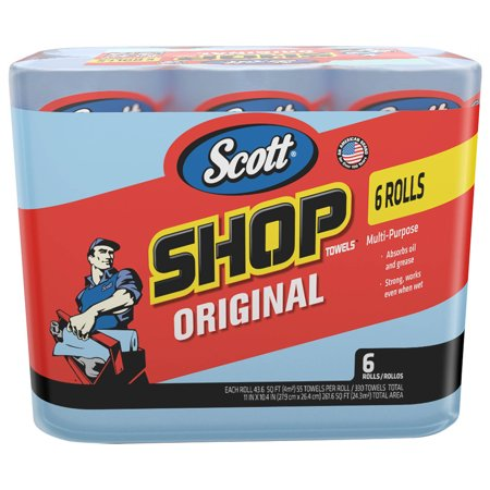 Scott Professional Multi-Purpose Shop Towels, 55 Sheets per Roll, 6 Ct