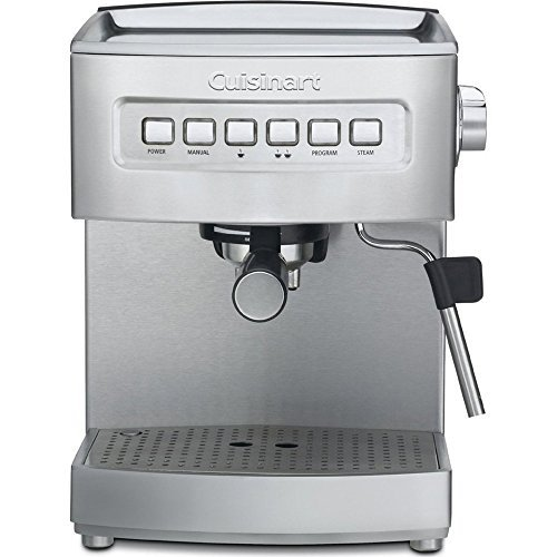Cuisinart Refurbished 2-Cup Programmable Semi-Automatic Espresso Maker, EM-200FR, Stainless Steel