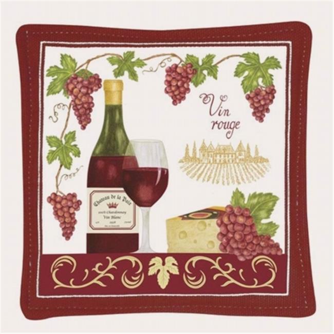 Alice's Cottage ACS11465 Vin Rouge Single Mug Mat