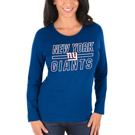 New York Giants Majestic Women's Quick Out Long Sleeve T-Shirt - Royal