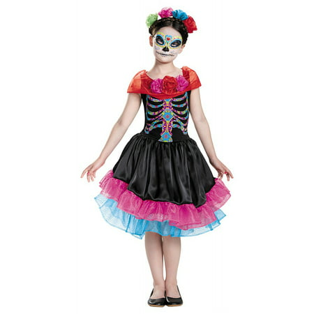 Day of the Dead Child Costume - Medium - Day Of The Dead Halloween Costume Ideas