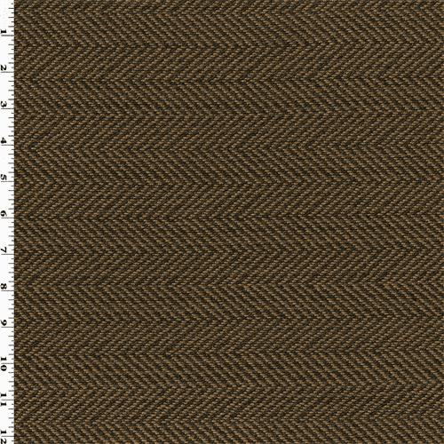 Taupe Brown Herringbone Upholstery Fabric Fabric By The Yard