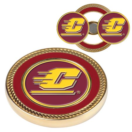 Central Michigan Challenge Coin / 2 Ball Markers (Ncaa Coins)