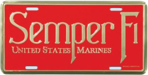 Mitchell Proffitt US Marines Semper Fidelis License Plate Frame