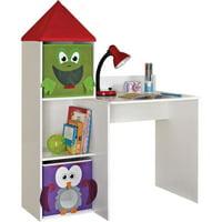 Altra Furniture Kids Workstation with 2 Bins , White