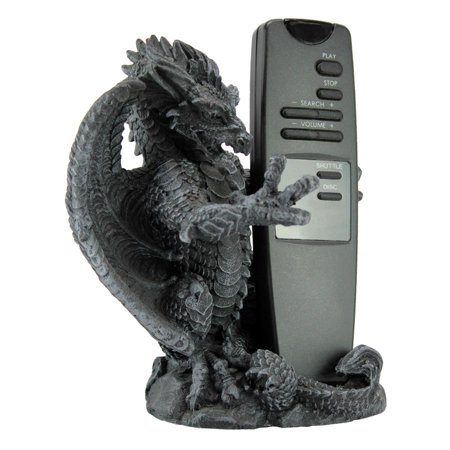 Versilius the Dragon MP3 Player/Cell Phone Holder Hand-cast using real crushed stone bonded with high quality designer resinEach piece is individually hand-painted in a grey stone finishExclusive to the Design Toscano brand and perfect for your home or garden