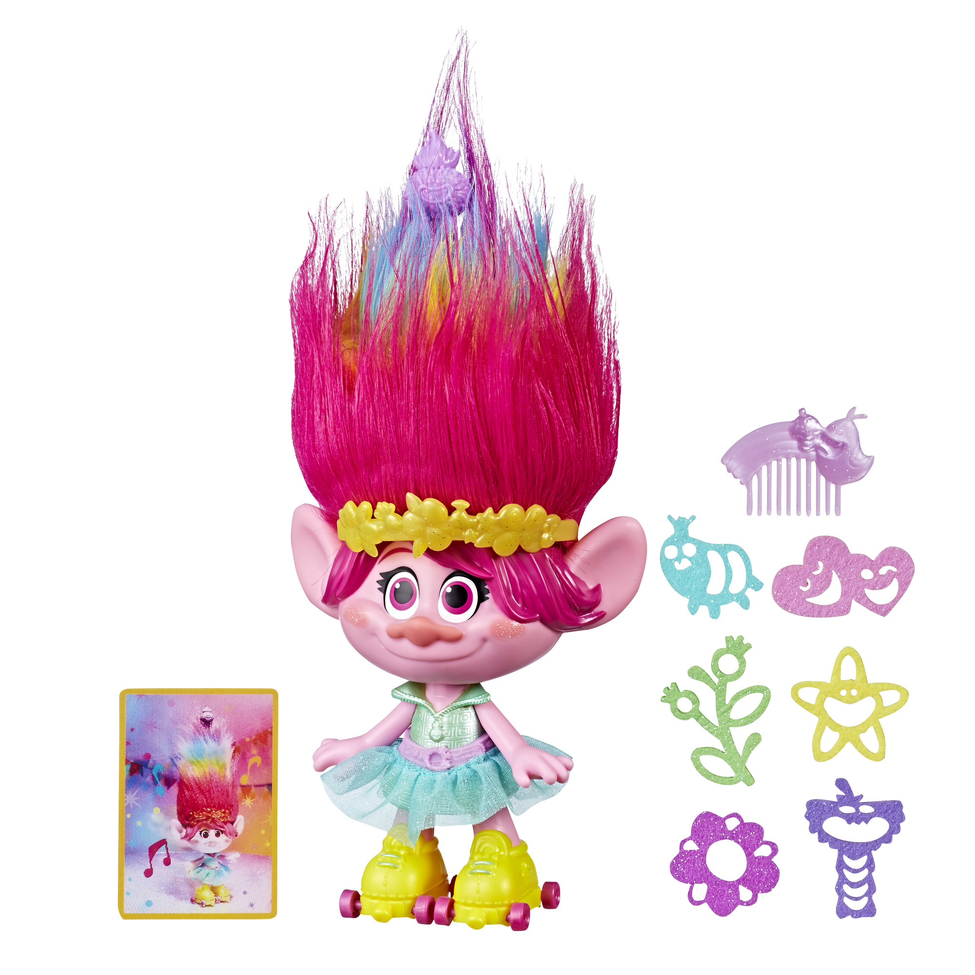 Dreamworks Trolls Party Hair Poppy Musical Doll Walmart
