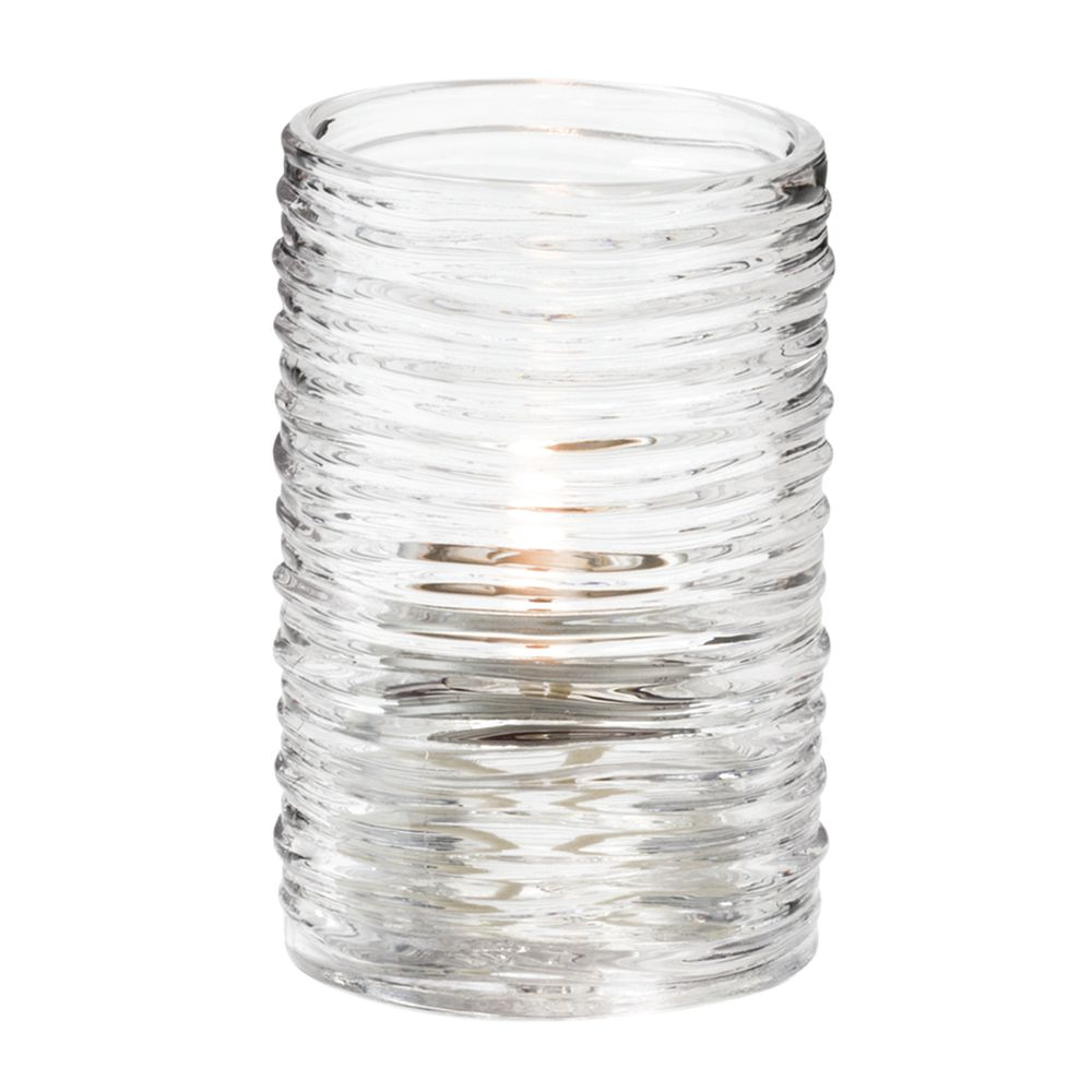 """Hollowick® Typhoon? Clear Glass Fuel Cell Holder - 3 1/4""""H"""