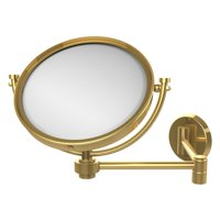 Allied Brass 8 in. Wall Mounted Extending Makeup Mirror with 5X Magnification