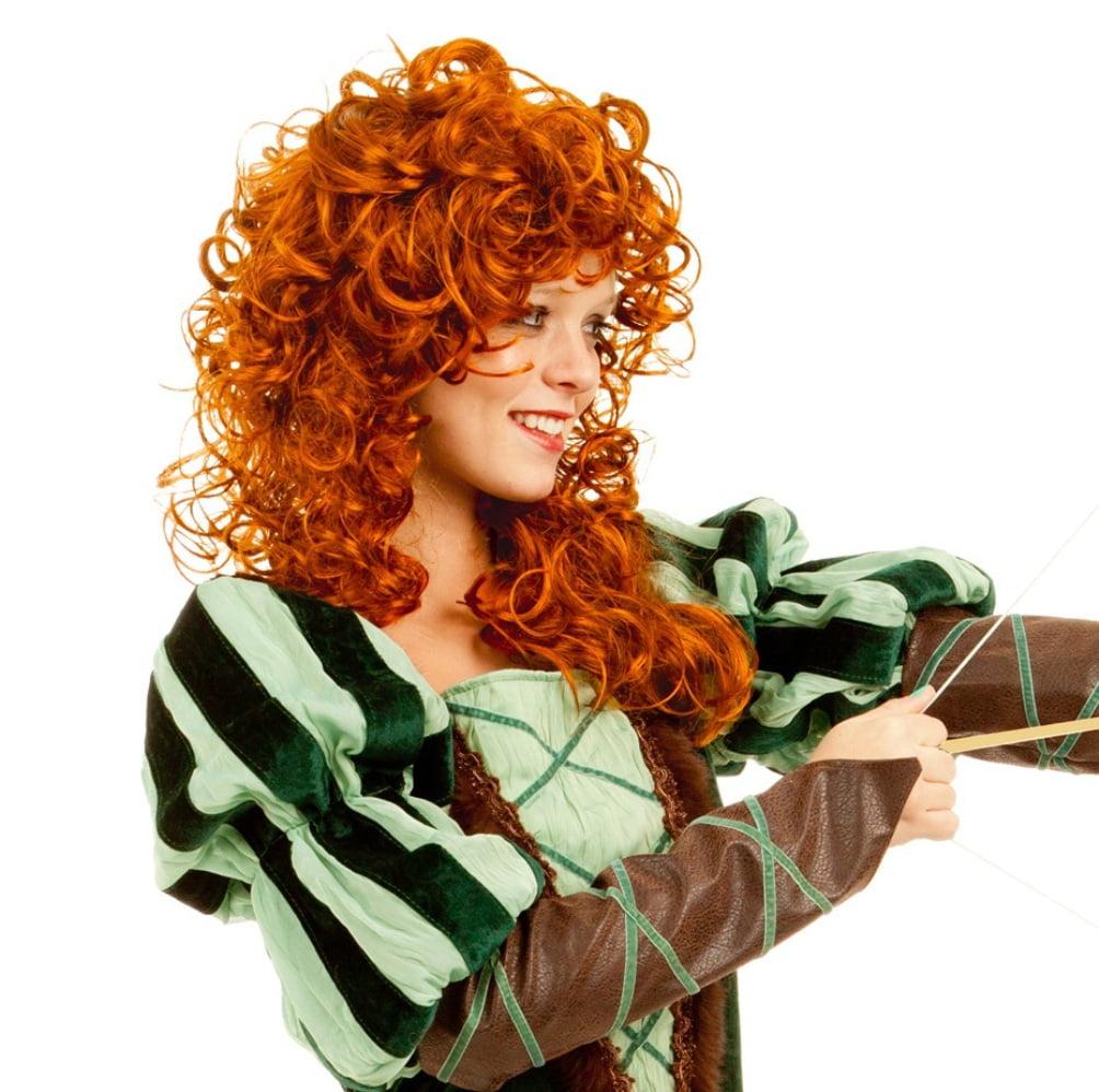Medieval Princess Womens Renaissance Long Curly Costume Wig