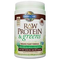 Garden of Life Raw Protein and Greens Chocolate 22oz (1lb 6oz/611g) Powder