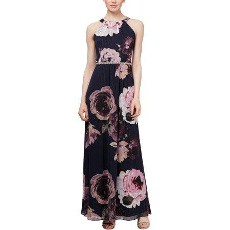 Embellished Dresses Clearance (SLNY Womens Embellished Floral Evening)