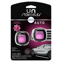 Febreze Unstopables Car Odor-Eliminating Air Freshener, Shimmer, 2 ct