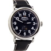 Shinola The Runwell Black Dial Leather Unisex Watch S0100020