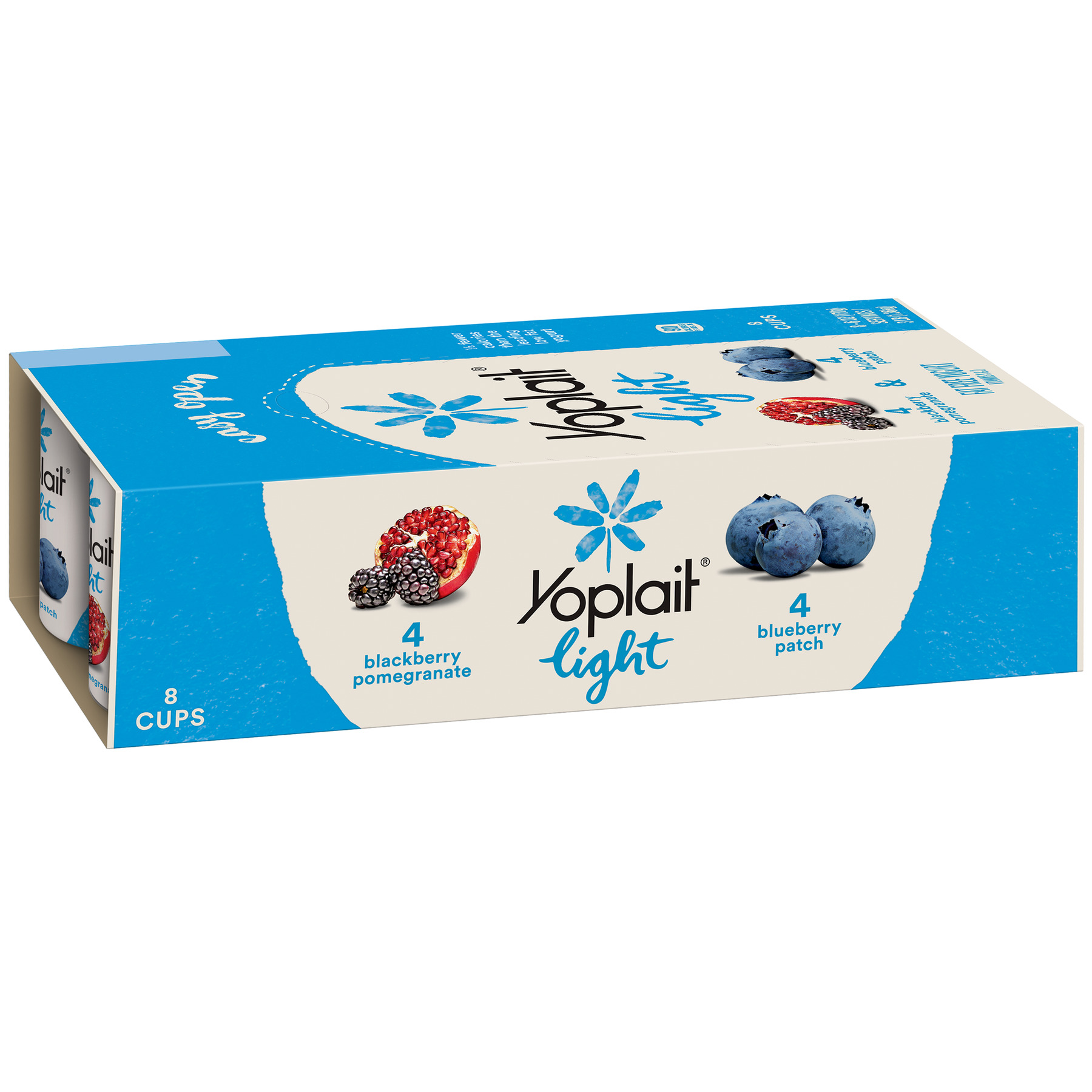 Yoplait Light Yogurt Blackberry Pomegranate/Blueberry 48 oz 8 Ct