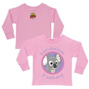 Personalized Koalaballoon and You Pink Toddler Girls' Long-Sleeve Tee