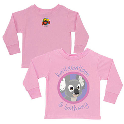 Personalized Wild Kratts Koalaballoon and You Pink Toddler Girls' Long-Sleeve Tee