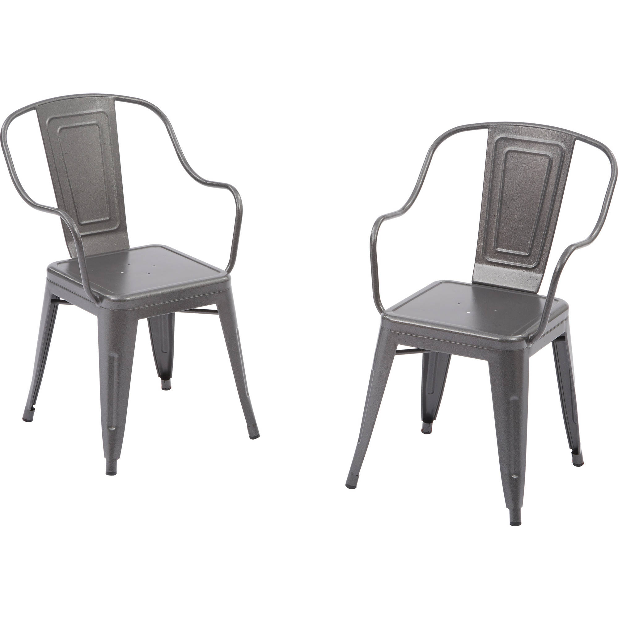Better Homes and Gardens Camrose Farmhouse Industrial Chairs Gray