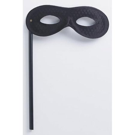 Black Satin Masquerade Mask on a Stick (Masks For A Masquerade)