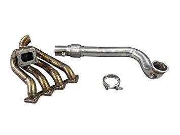 "Details about  /3/"" Top Mount Turbo Downpipe For Honda Civic EK EG DC2 Integra LS GSR B-Seriese"