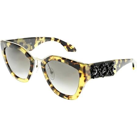 Prada Women's Gradient PR10TS-7S00A7-52 Brown Geometric Sunglasses