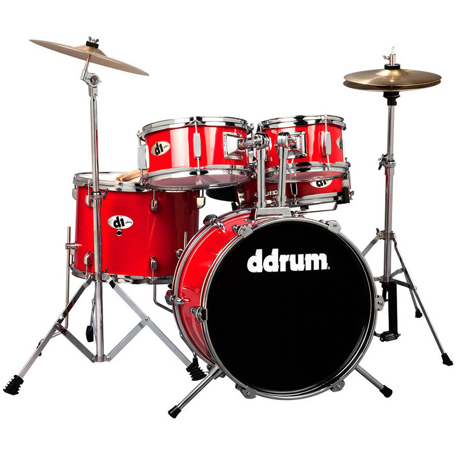 ddrum D1 Junior Drum Set, 5-Piece, Candy Red by ddrum