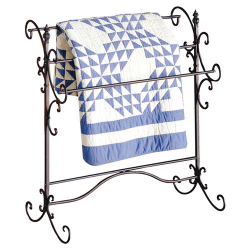 Wildon Home  Permalloy Iron Scroll Quilt Rack