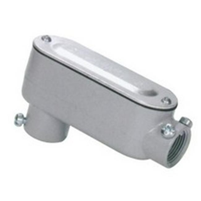 Morris 14248 Aluminum Combination Conduit Body LB Type - Threaded & Set Screw with Cover & Gasket, 1 in. - image 1 of 1