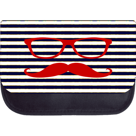 Shades and Mustache on Navy Gilded Stripes - 5