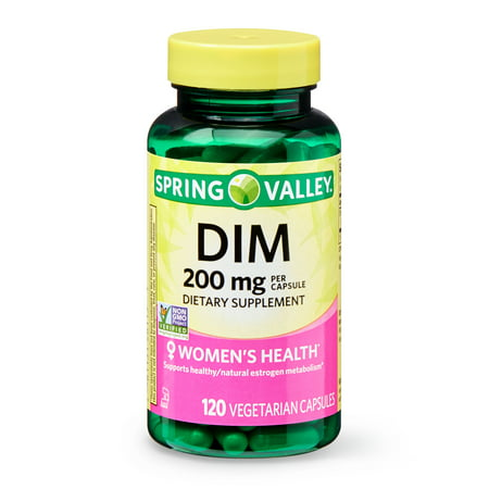 Spring Valley DIM Vegetarian Capsules, 200 mg, 120 Count