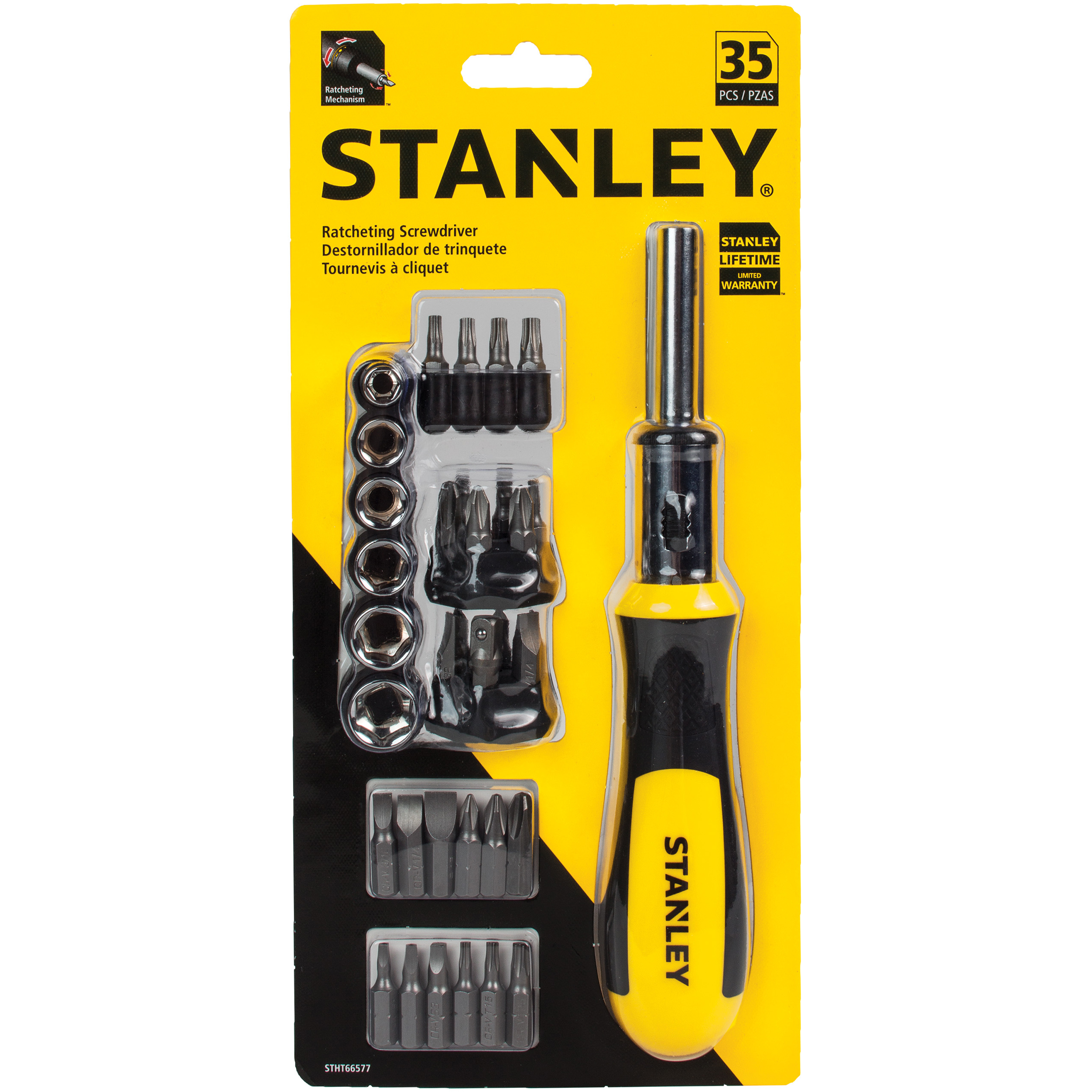 STANLEY 35pc Ratcheting Screwdriver Set | STHT66577