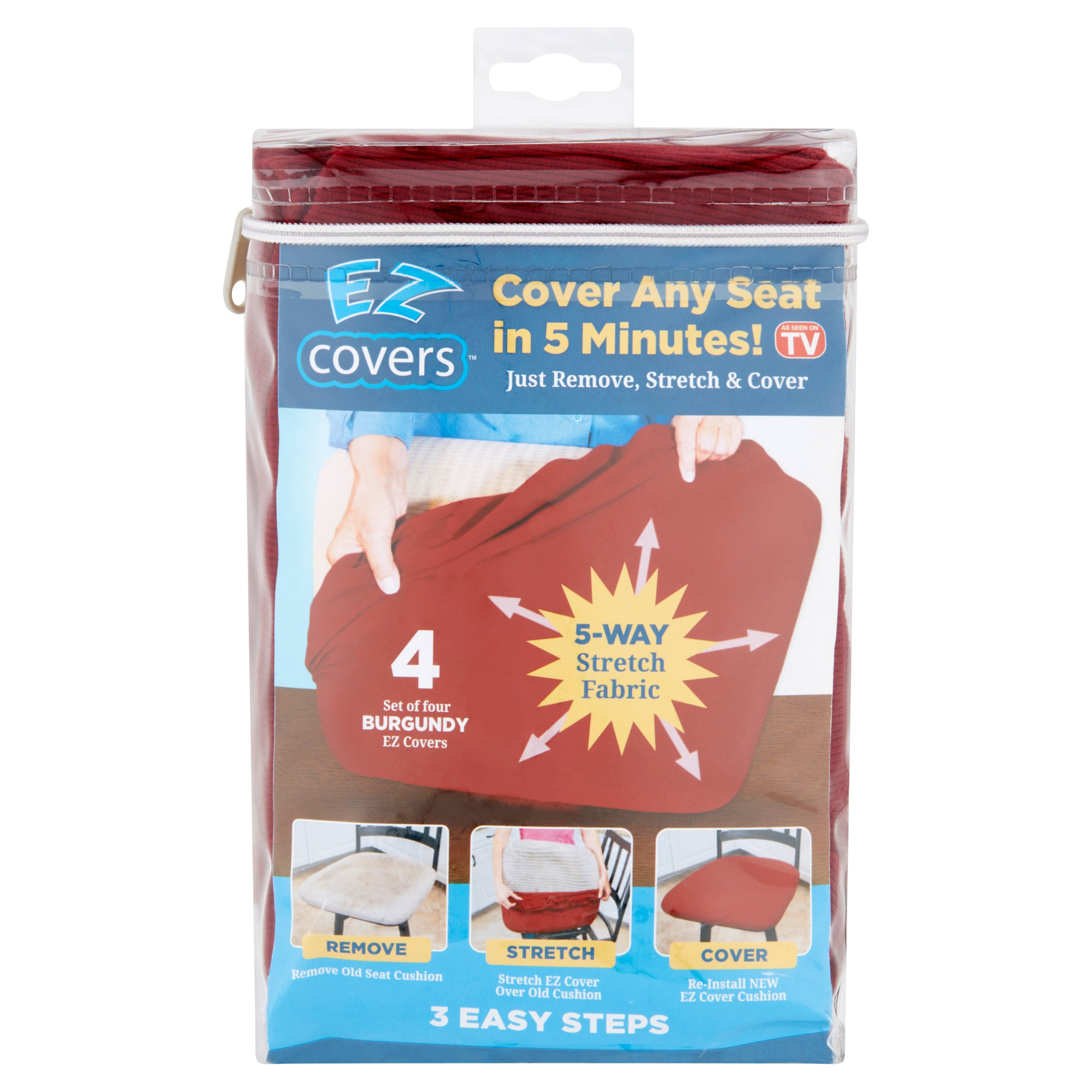 EZ Cover Burgundy Covers, 4 count
