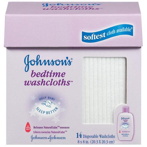 Johnson's Bedtime Washcloths, 14ct