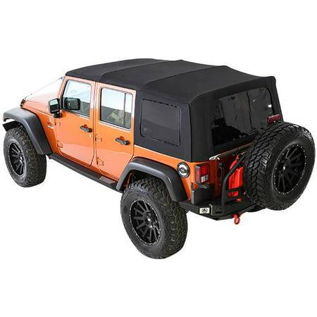 Smittybilt 2007-2009 Jeep Wrangler JK 4 Door Soft Top Premium Canvas OEM Replacement With Tinted Windows